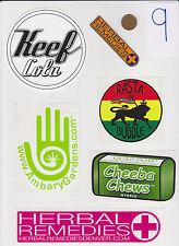 Lot of Marijuana Industry Stickers-Colorado MMJ Dispensary Weed Edibles 420-#9