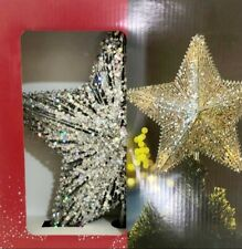 More details for new stunning silver & gold star tree topper. bright & embellished look