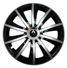 4x15 Wheel trims Wheel covers fit Renault Clio 15'' wheels black - silver