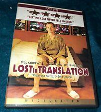 Lost In Translation Dvd Widescreen Bill Murray Scarlett Johansson Sofia Coppola