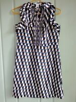 DVF Diane Von Furstenberg Womens Small 4 100% Silk Berit Martini Glass Dress