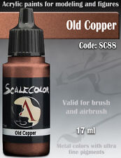 Acrylic Paint - OLD COPPER Metal - Scale75 SC-88 - 17ml for Hobby brush airbrush