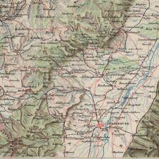 Front de La Haute Meuse - - Géographie - Carte ancienne 1898