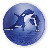 Bing & Grondahl 2017 Mothers Day Plate, Orca and Young (1021114)