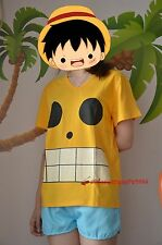 One Piece Monkey D Luffy T shirt ONE PIECE FILM Z Yellow Captain Character