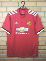 Manchester United Jersey 2017 2018 Home LARGE Shirt BS1214 Soccer Adidas