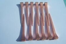 COPPER COATED HORSESHOE NAILS NEW 12 FOR STAINED GLASS  COPPER FOILING & CRAFTS