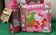 Hello Kitty Lunch Box w GEL Block & Stainless Steel 18/8 Bottle 473ml Rrp $72