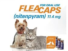 7 capsules Flea treatment remedy kill for cats oral starts work in 1/2 hour