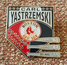 CARL YASTRZEMSKI 3 BATTING TITLES Lapel Pin BOSTON RED SOX