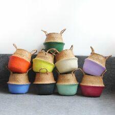 Seagrass Belly Storage Basket Straw Basket Write Wicker Basket Storage Bag White