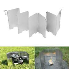 9 Plates Foldable Outdoor Camping Cooking Cooker Stove Wind Shield Screens+Bag