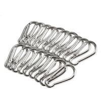 20Pcs Mini Metal Snap Spring Clip Hook Carabiner Outdoor Survival Tool Welcome