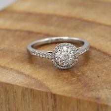 Diamond 00006000  Engagement Ring Super Cluster #11 Diamond Ring 18K White Gold Large