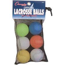 Champion Sports Lacrosse Balls - Pack of 6