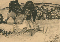 Alfred Henry Robinson Thornton NEAC (1863-1939) - Pen and Ink Drawing, Hay