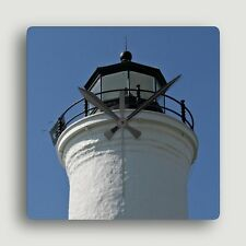 LIGHTHOUSE ~ SQUARE WALL CLOCK ~ Exclusive Nautical Design / Functional Art