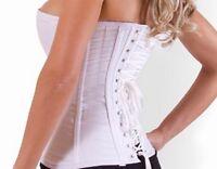 Lacet blanc de remplacement en coton pour corsets bustiers et guêpières