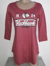 Chicago Blackhawks 1924 Hockey NHL Womens 3/4 Sleeve T-Shirt S