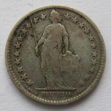 S0268 - Schweiz 1/2 Franken, Helvetia, 1898 B, Silber
