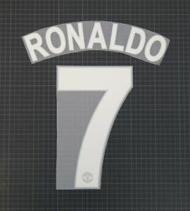 RONALDO #7 2008-2009 Player Size Champions League White Nameset Plastic