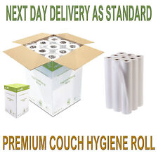 """Premium Quality White 20"""" Couch Rolls Hygiene Roll (12 Rolls) Buy 2+ Get 10% Off"""