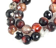"14,10mm Natural Faceted Pumpkin Strip Brown Agate Gemstone Beads Strand 15/"""