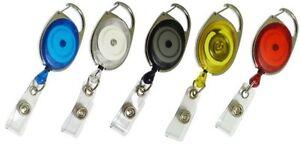 Premier Badge Reel - ID Pass Holder - Retractable Yo-Yo - Various Colours