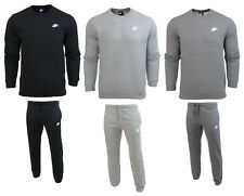 Nike mens full tracksuit top bottoms pant crew sweatshirt joggers