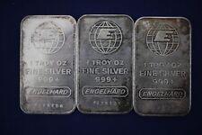 Engelhard 1 oz .999 Fine Silver Bars - Lot of 3