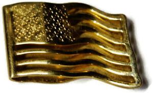 Avon Vintage American Flag Money Clip Credit Card Cash ID Holder Gold Tone