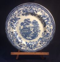 """Royal Staffordshire By Clarice Cliff England 'Tonquin' Blue 10"""" Dinner Plate"""