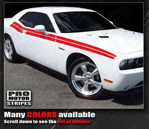 Dodge Challenger 2008-2021 Factory Style Dual Side R/T Stripes (Choose Color)