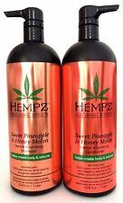 Hempz Sweet Pineapple Melon Volumizing Shampoo/Conditioner 33.8oz Liter Set of 2