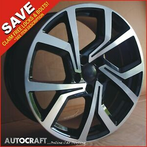 """18"""" CLUBSPORT Style ALLOY WHEELS + TYRES - VW GOLF / CADDY / TRANSPORTER T4"""
