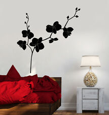 Vinyl Wall Decal Orchid Flower Shop Floral Bedroom Design Stickers (1080ig)