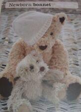 Newborn Baby Bonnet Hat ~ D.K Knitting Pattern ~ Easy Design
