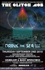 """THE GLITCH MOB """"DRINK THE SEA TOUR 2010"""" CHARLOTTE CONCERT POSTER-Synthpop Music"""