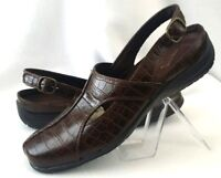 Easy Street Comfort Wave Womens Shoes Size 8.5 Brown Sandals Slingback
