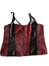 Red Black Corset Plus Size