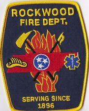Rockwood Fire Dept. TN Firefighter Patch NEW!!