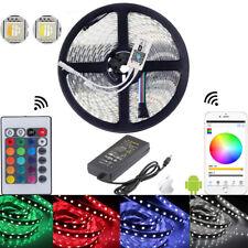 5M 5050 LED-Lichtleiste RGBW 4 in 1 Pommes WiFi Remote flexibel DC 12V 24V Set