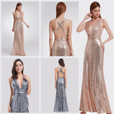 US Sexy Sequins Formal Celebrity Prom Gown Cocktail Evening Party Dresses 07109