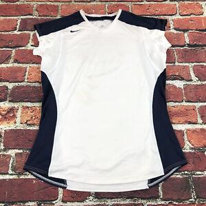 Nike Dri-Fit Womens 2XL white Tank top sleeveless shirt stretch tech compression