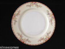 """Grace China Japan Ogden GRAOGD, Red Band, Pink Floral on Cream 10"""" DINNER PLATE"""