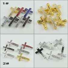 free ship 100 pieces tibetan silver cross connector 21x14mm #4226