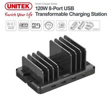 New Unitek Y-PW10012 Type-C QC 3.0 8 Port USB Charger Power Adapter Wall Charger