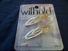 Wilhold Barrettes 2-pack New Gold Tone Hair Fashion Accessory Gift Girls/Women