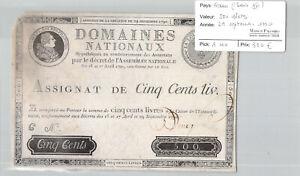 France (Louis XVI) 500 Books 29/9/1790 Pick A40