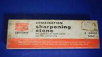 Vintage Sears Craftsman Combination Sharpening Stone 64402 with Original Box USA